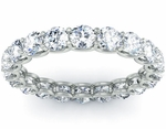 U Shaped Prongs Round Diamond Eternity Band