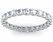 U-shaped Setting Round Diamond Eternity Ring