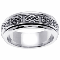 Unique Celtic Wedding Ring in 7mm 14kt Gold