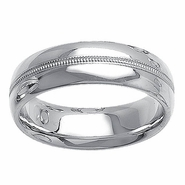 Unique Wedding Band for Men in 14kt White Gold