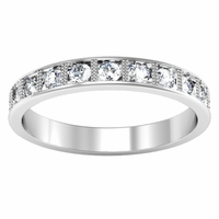 Vintage Style Pave Diamond Eternity Band