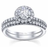 Wedding Band and Engagement Ring Set