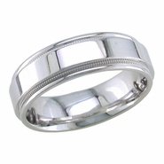 Wedding Band for Men 6.5 mm Comfort Fit