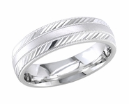 Wedding Ring for Men or Women 6.5 mm Comfort Fit