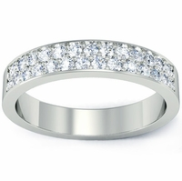 Wedding Ring with Pave Diamonds
