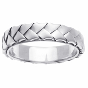White Gold Braided Ring 5mm