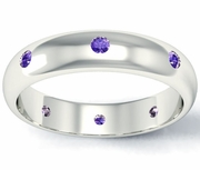 Domed Amethyst Landmark Eternity Band