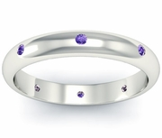 Domed Amethyst Landmark Eternity Ring