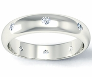 Domed Diamond Landmark Eternity Band