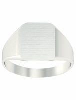Wide Square Family Signet Rings