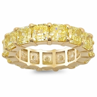 Yellow Diamond and Yellow Gold Eternity Ring