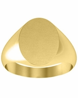 Yellow Gold Plain Oval Signet Rings