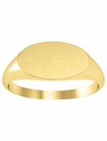 Yellow Gold Ring Signet Oval Surface
