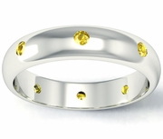 Yellow Sapphire Domed Landmark Eternity Band