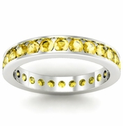 Yellow Sapphire Eternity Ring in Channel Setting