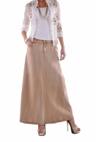 Blond Chic Long Denim Skirt