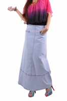 Breezy Blue Long Denim Skirt