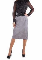 Business Gray Denim Skirt