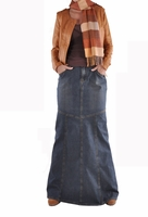 Dashing Diva Long Denim Skirt