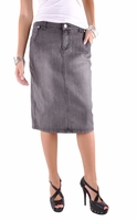 Dusty Charcoal Denim Skirt