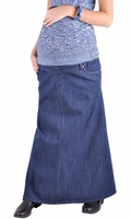 Everyday Maternity Long Denim Skirt