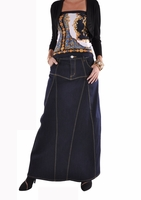 Fabulous Me Long Denim Skirt