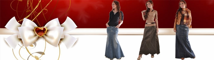 Brush Maternity Long Denim Skirt