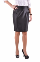 Pencil Shimmer Black Skirt