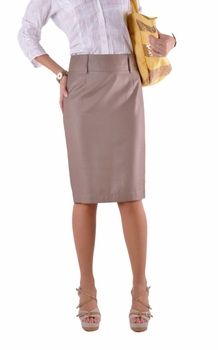 Professional Khaki Pencil Skirt
