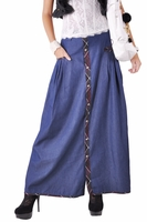 Relaxed Long Jean Skirt