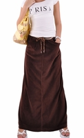 Relaxed Velvet Coffee Skirt
