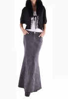Rosie Chic Long Denim Skirt