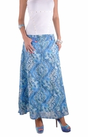 Safari Blue Long Skirt