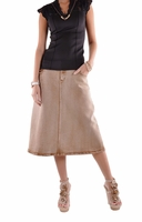 Sandy Camel Denim Skirt