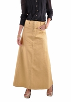 Sandy Dandy Long Denim Skirt