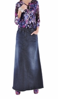 Simple Beauty Long Jean Skirt