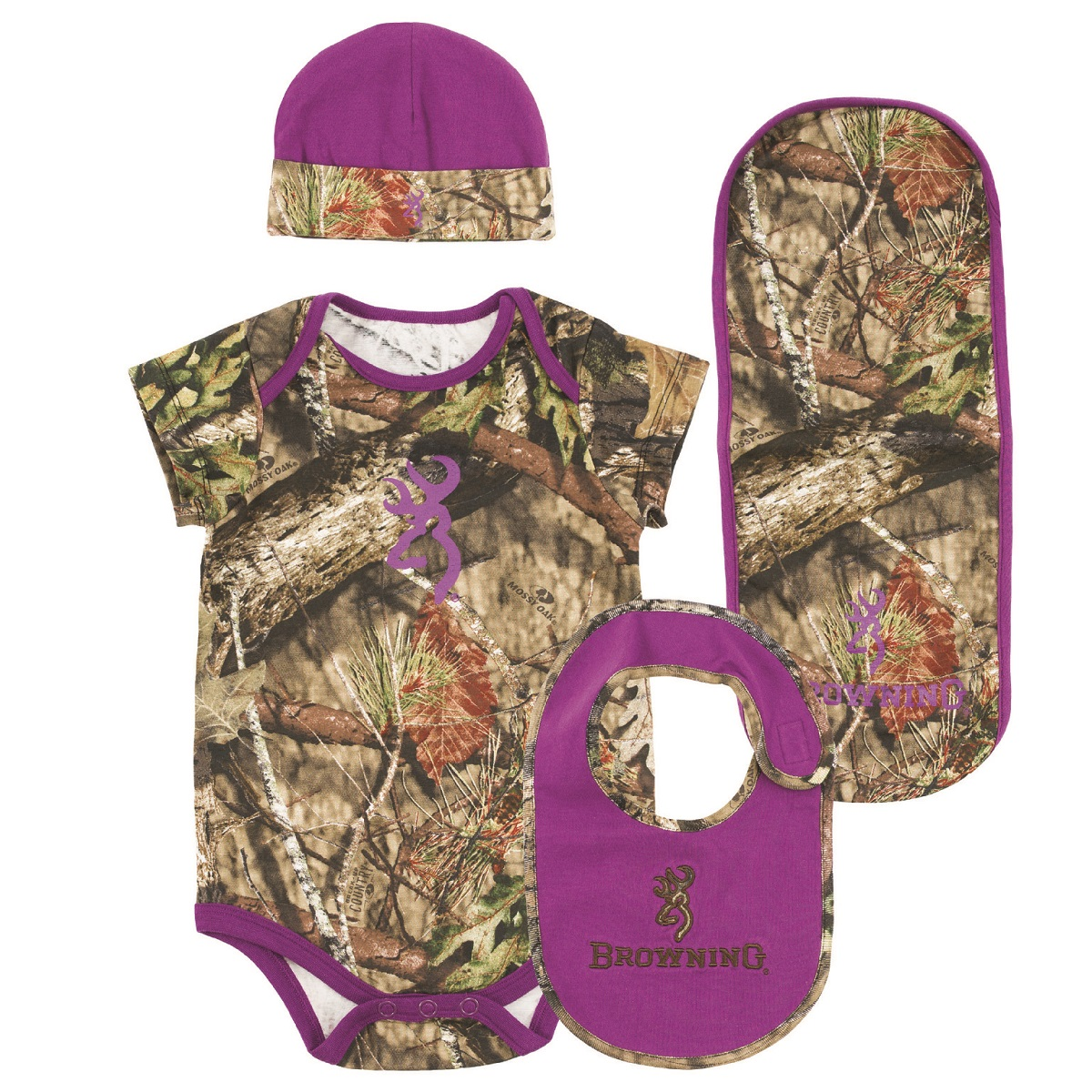 Browning Baby Camo Purple Infant Set