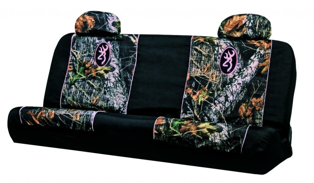 Browning Buckmark Pink Bench Seat Cover