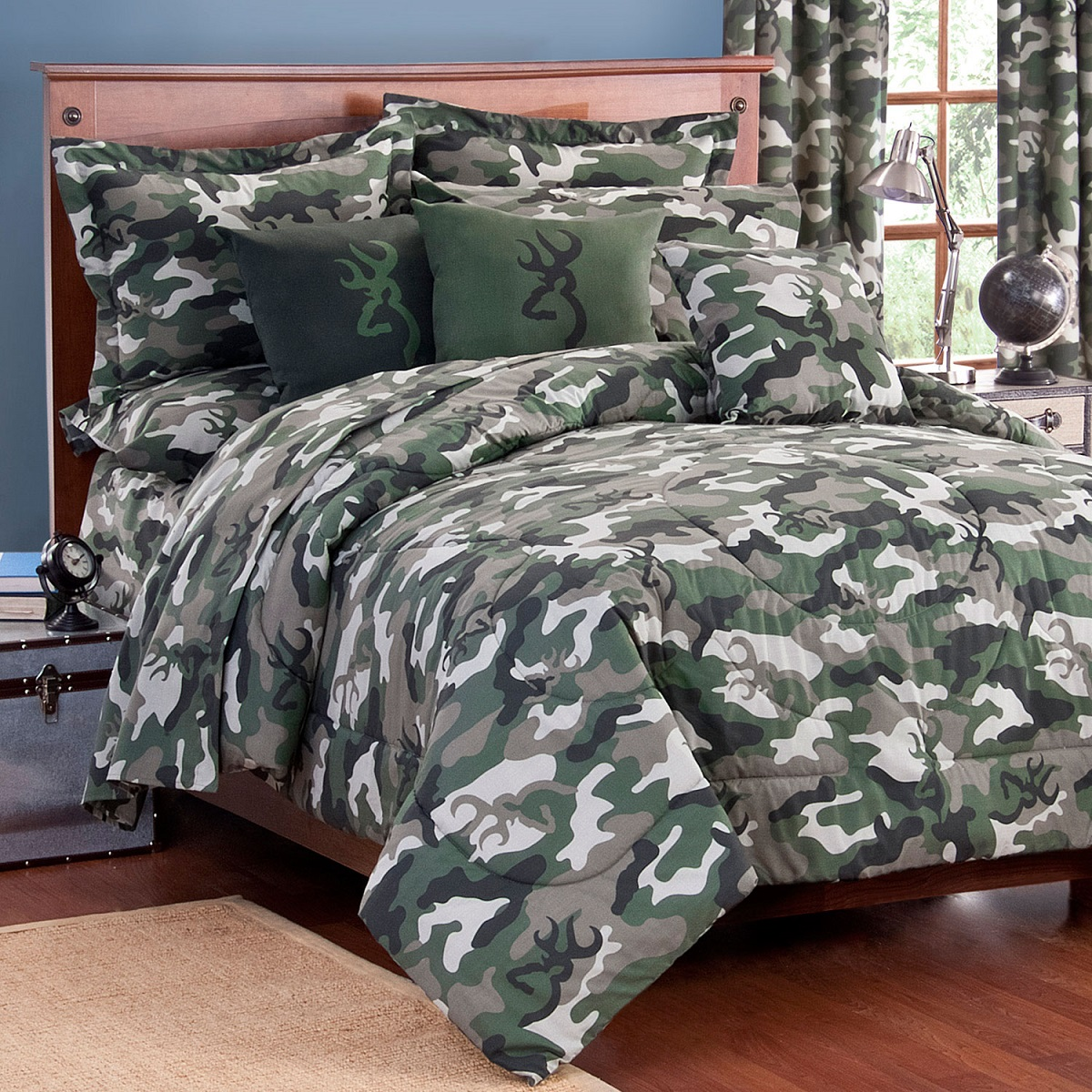Browning Green Camo Bed In A Bag Comforter Sheet Set