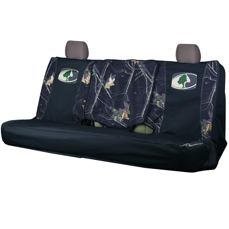Mossy Oak Country Black Camo Bench Seat Cover