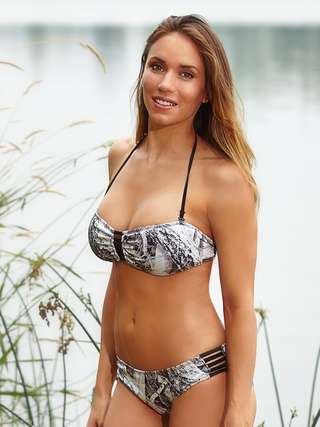 Naked North Snow Camo Bandeau Swimsuit Bikini