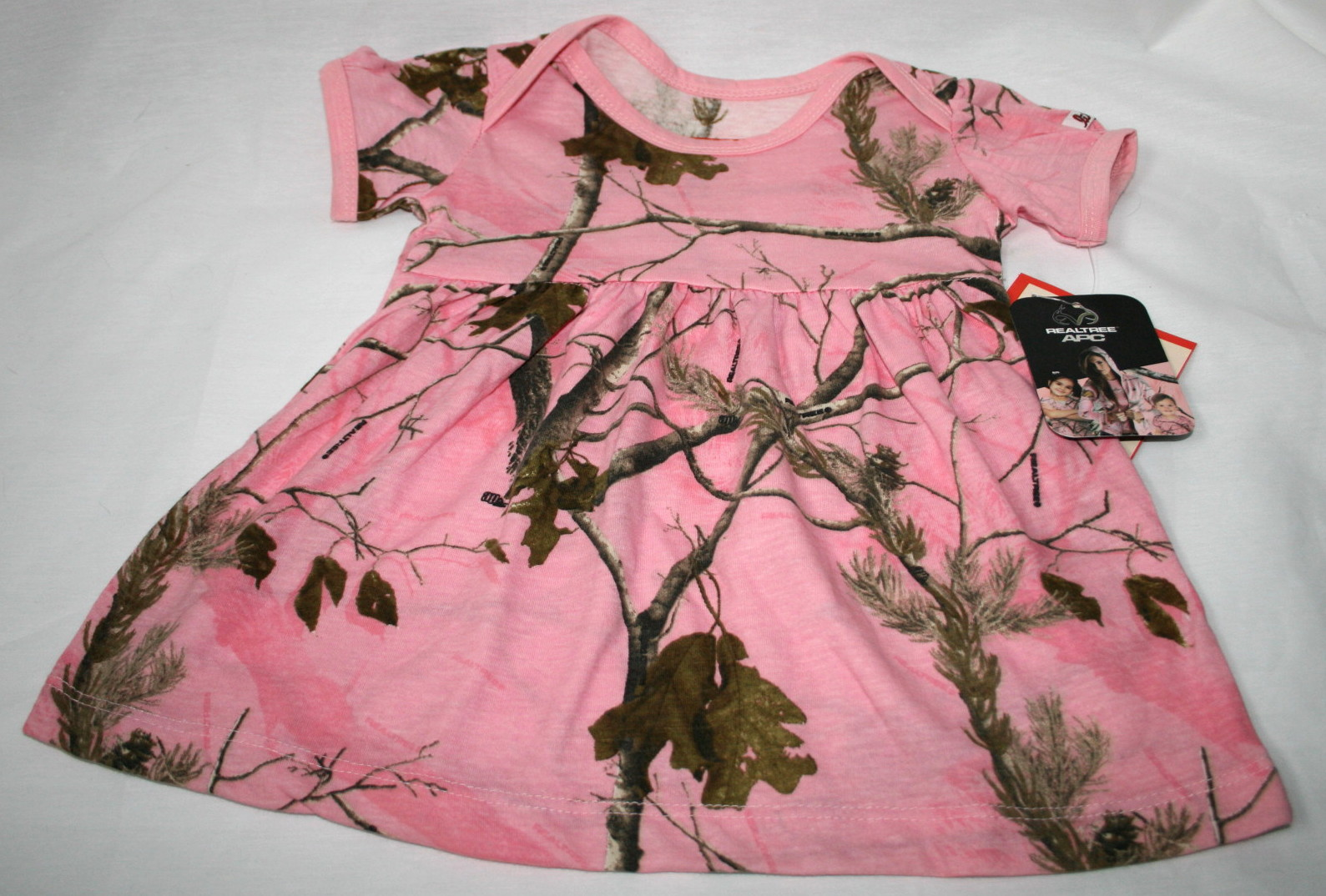 Realtree pink camo baby toddler dress