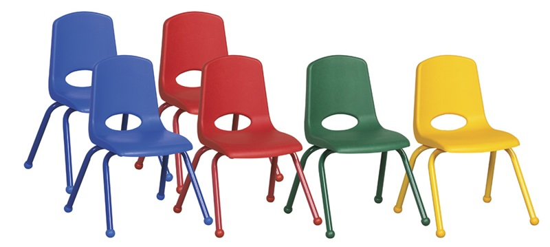 """Set of Six 16''H Vented Back Stacking Chairs with Matching Legs and Ball Glides - Assorted Colors <span class=""""product-code"""">[ELR-15120-AS-ecr]</span>"""
