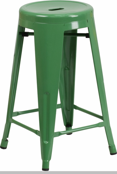 30 High Backless Green Metal Indoor Outdoor Barstool  : 24 high backless green metal indoor outdoor counter height stool with round seat ch 31350 24 gn gg 7 from www.stackchairs4less.com size 412 x 610 jpeg 95kB