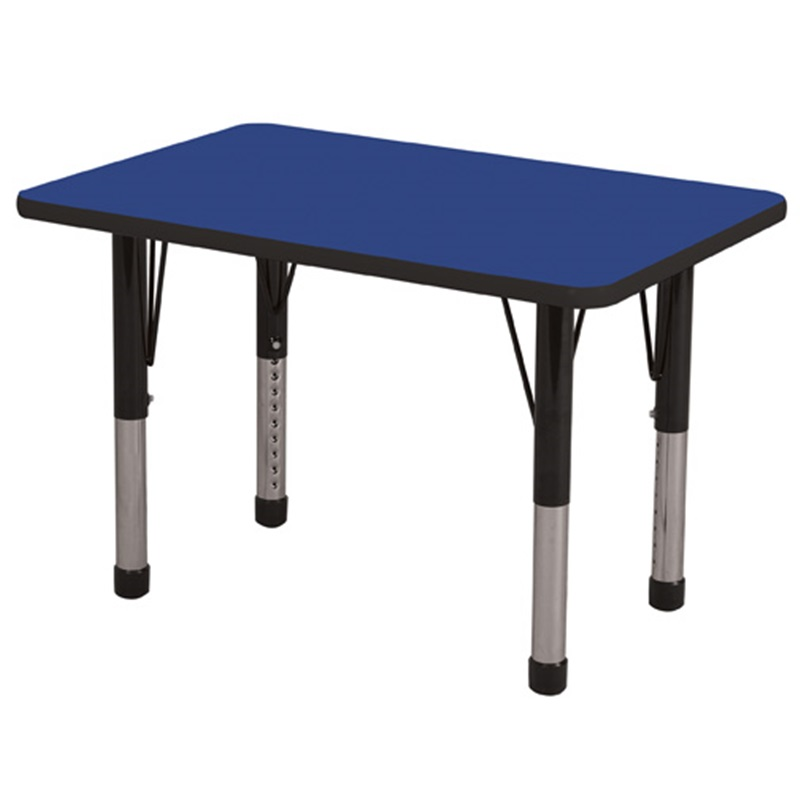 "24''W x 36''D Rectangular Activity Table with Laminate Table Top and Height Adjustable Legs <span class=""product-code"">[ELR-14106-ecr]</span>"
