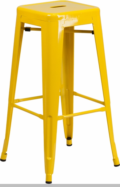 24 High Backless Yellow Metal Indoor Outdoor Counter  : 30 high backless yellow metal indoor outdoor barstool with square seat ch 31320 30 yl gg 7 from www.stackchairs4less.com size 390 x 610 jpeg 84kB