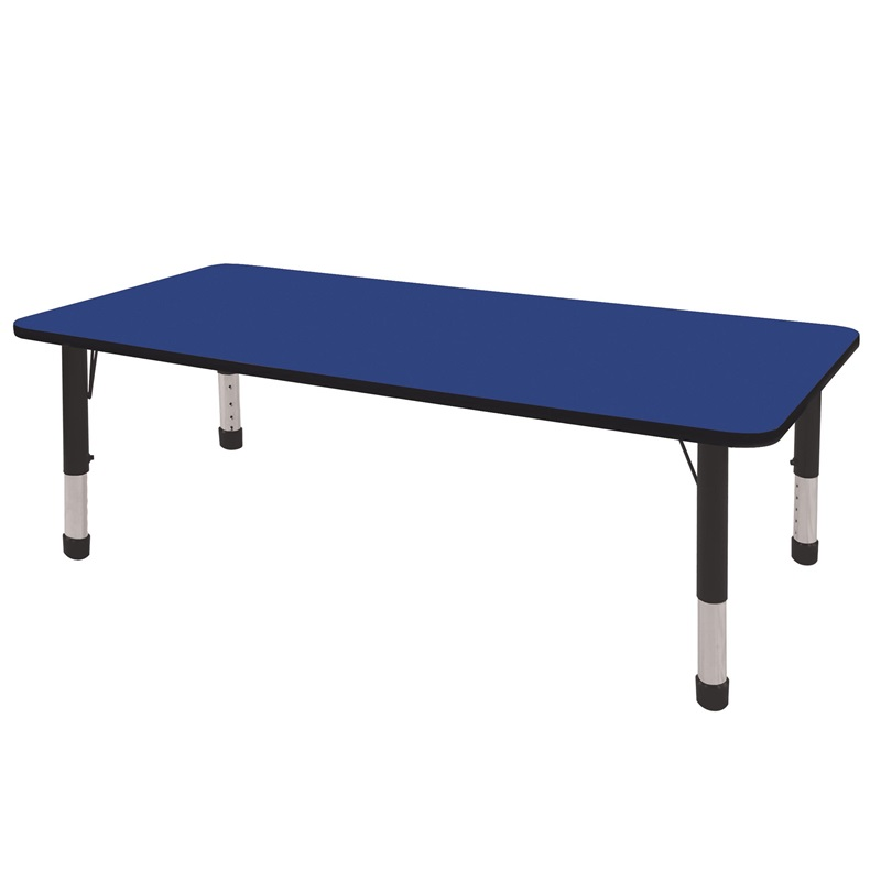 "36''W x 72''D Rectangular Activity Table with Laminate Table Top and Height Adjustable Legs <span class=""product-code"">[ELR-14113-ecr]</span>"