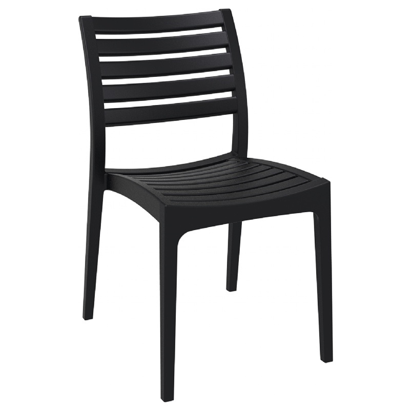 Ares outdoor dining chair black isp009 bla fs cmp
