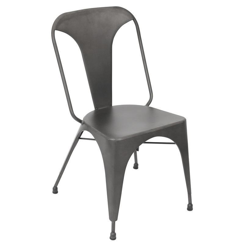 Austin 16 5 39 39 H Urban Steel Stackable Armless Dining Chairs Set Of 2