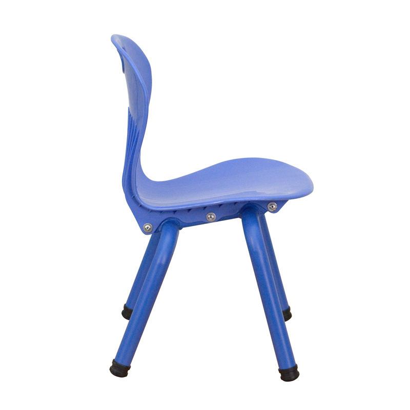 School stack chairs for Blue plastic chair